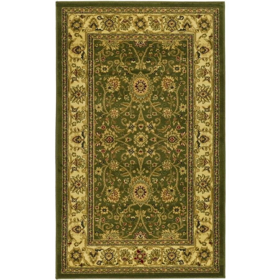 Safavieh Lyndhurst Sarouk Sage/Ivory Indoor Oriental Runner (Common: 2 x 6; Actual: 2.25-ft W x 6-ft L)