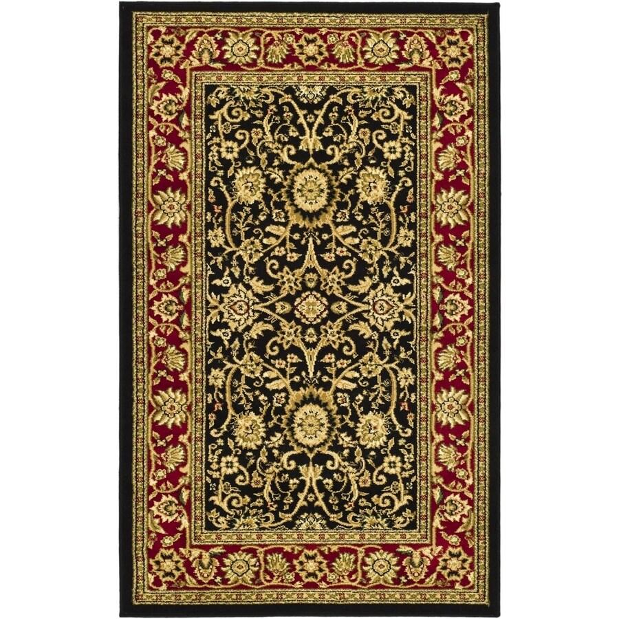 Safavieh Lyndhurst Sarouk Black/Red Indoor Oriental Runner (Common: 2 x 6; Actual: 2.25-ft W x 6-ft L)
