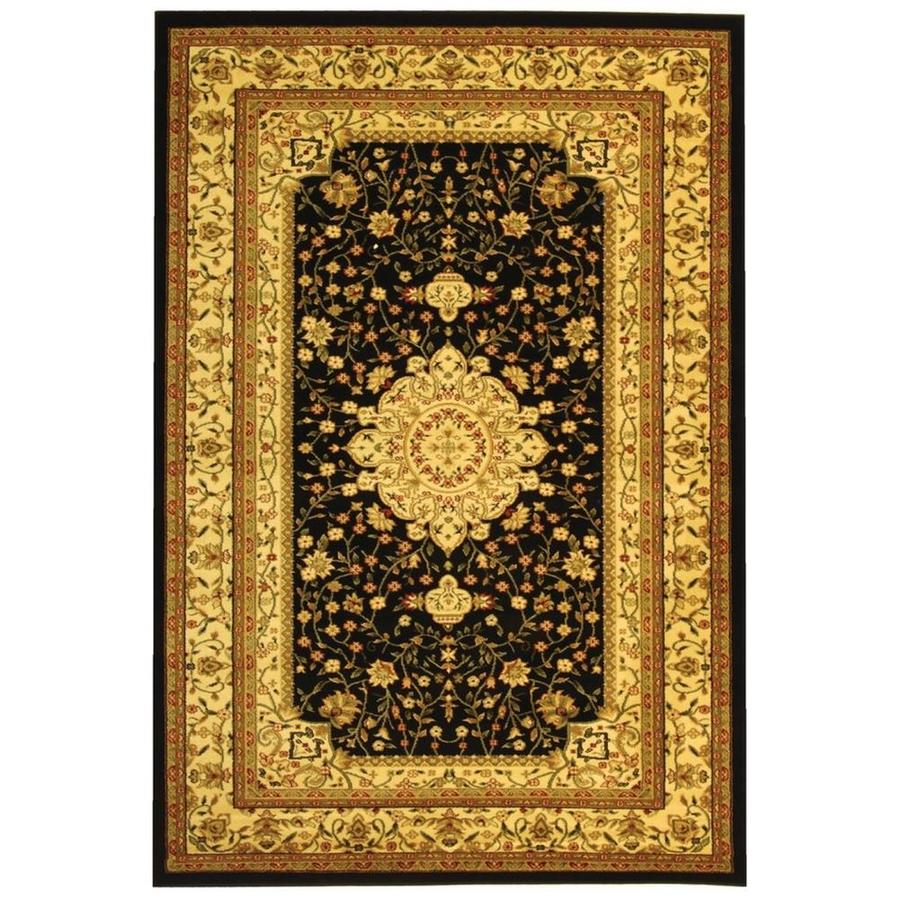Safavieh Lyndhurst Tabriz Black/Ivory Indoor Oriental Runner (Common: 2 x 6; Actual: 2.25-ft W x 6-ft L)
