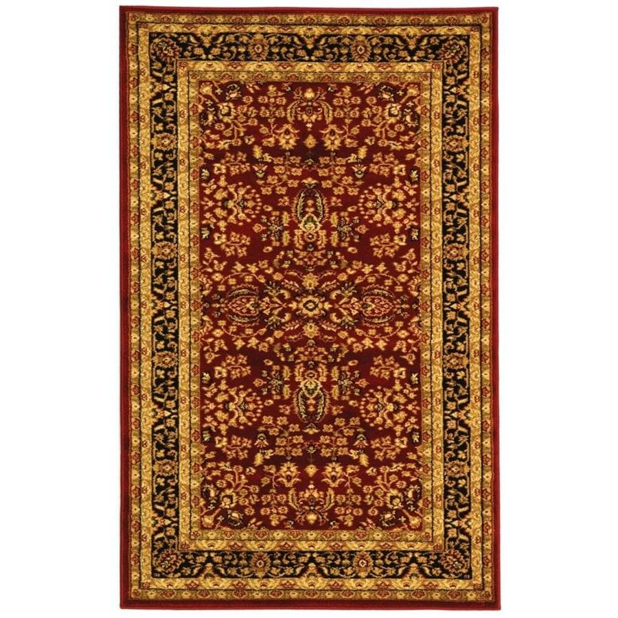Safavieh Lyndhurst Isphahan Red/Black Rectangular Indoor Machine-made Oriental Runner (Common: 2 x 6; Actual: 2.25-ft W x 6-ft L)