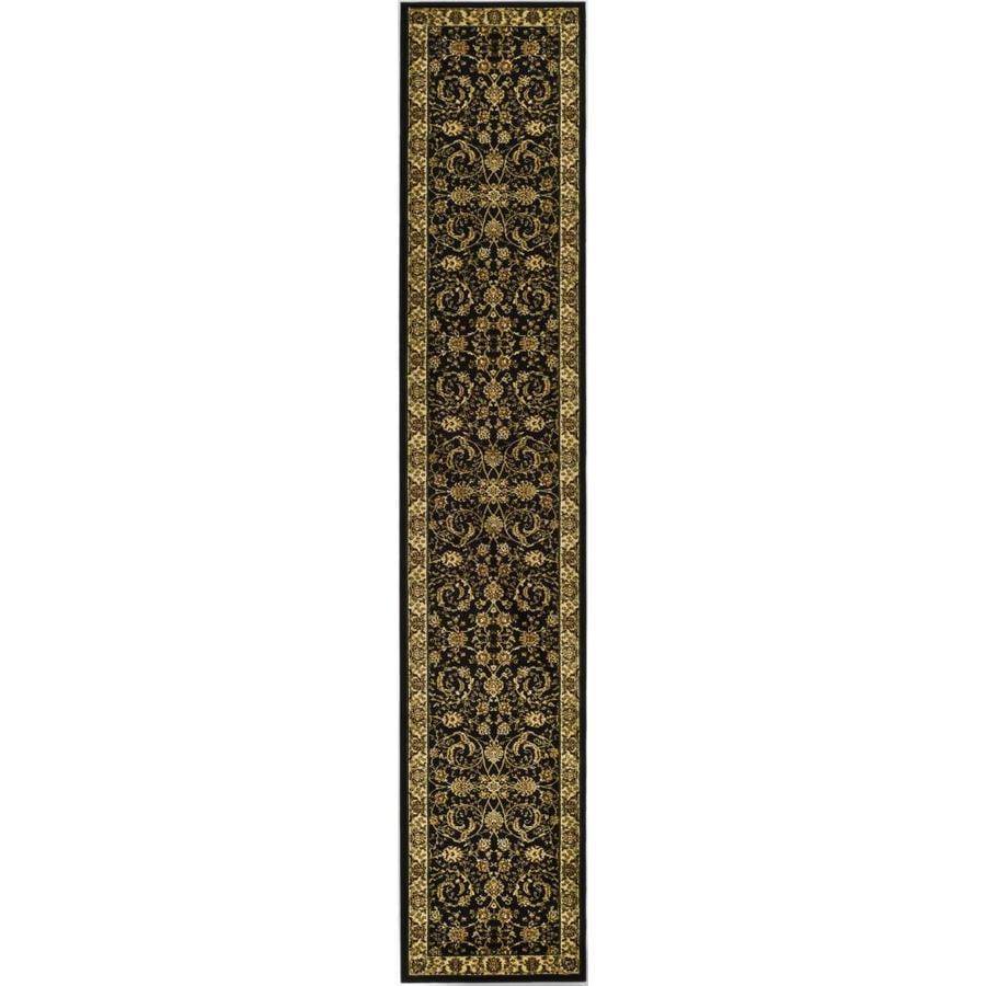 Safavieh Lyndhurst Lavar Black/Ivory Indoor Oriental Runner (Common: 2 x 6; Actual: 2.25-ft W x 6-ft L)