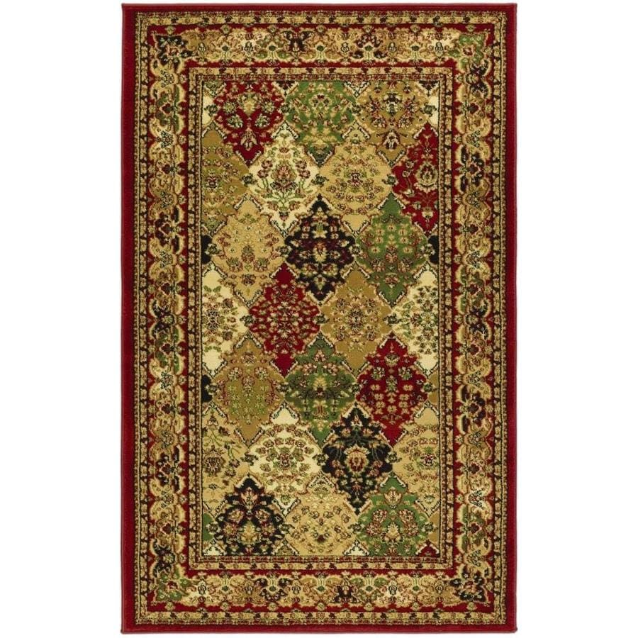 Safavieh Lyndhurst Diamond Baktiari Multi/Red Rectangular Indoor Machine-made Oriental Runner (Common: 2 x 6; Actual: 2.25-ft W x 6-ft L)