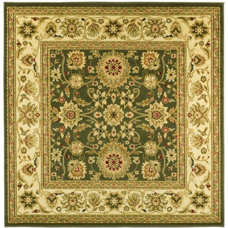 Safavieh Lyndhurst Sarouk Sage/Ivory Square Indoor Machine-made Oriental Area Rug (Common: 8 x 8; Actual: 8-ft W x 8-ft L)