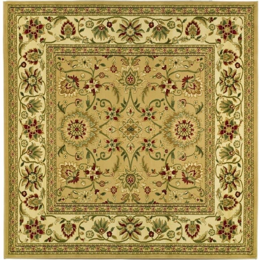 Safavieh Lyndhurst Sarouk Beige/Ivory Square Indoor Machine-made Oriental Area Rug (Common: 8 x 8; Actual: 8-ft W x 8-ft L)