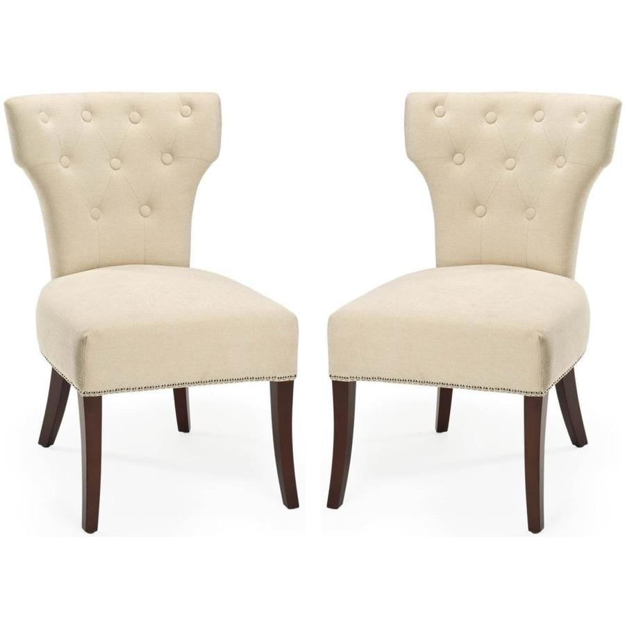 Shop safavieh set of 2 broome modern natural cream accent for Modern accent chairs