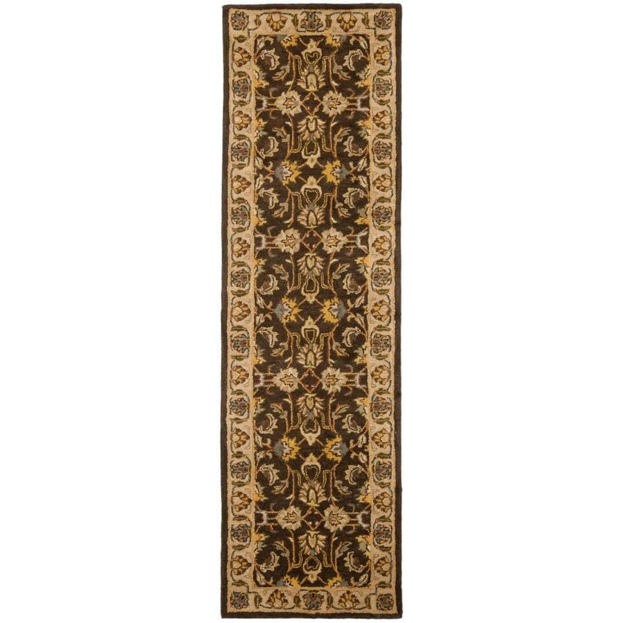 Safavieh Heritage Mugum Natural Rectangular Indoor Handcrafted Runner (Common: 2 x 14; Actual: 2.25-ft W x 14-ft L)