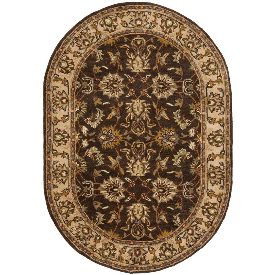 Safavieh Heritage Mugum Brown Ivory Oval Indoor