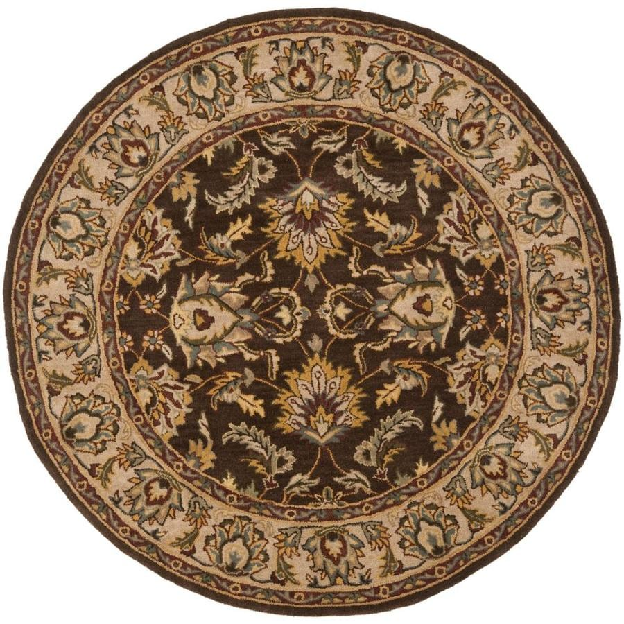 Safavieh Heritage Mugum 8 X 8 Brown Ivory Round Floral Botanical Oriental Handcrafted Area Rug In The Rugs Department At Lowes Com