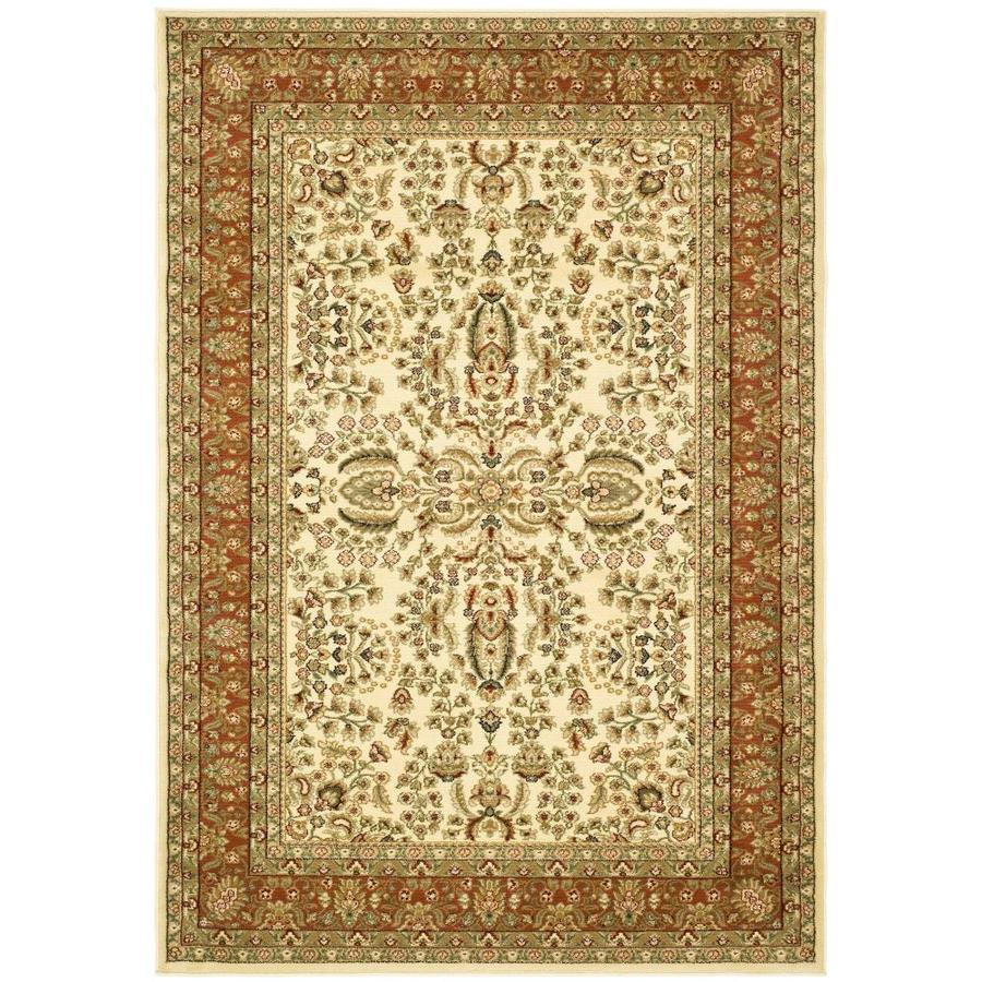 Safavieh Lyndhurst Isphahan Ivory/Rust Rectangular Indoor Machine-made Oriental Area Rug (Common: 5 x 7; Actual: 5.25-ft W x 7.5-ft L)