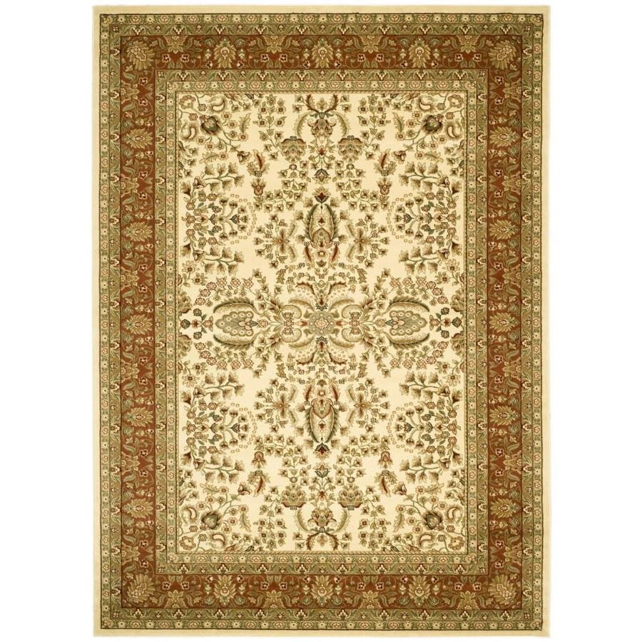Safavieh Lyndhurst Isphahan Ivory/Rust Indoor Oriental Area Rug (Common: 8 x 11; Actual: 8-ft W x 11-ft L)