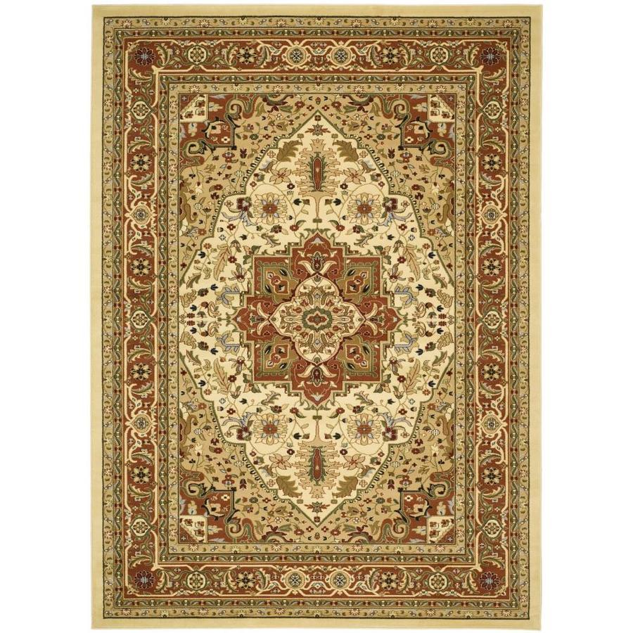 Area Rug Persian 9x12 Oriental Carpet Ivory Wool: Safavieh Lyndhurst Heriz Ivory/Rust Indoor Area Rug