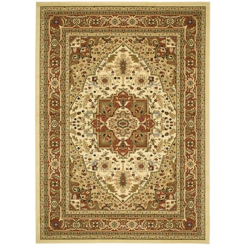 Safavieh Lyndhurst Heriz 8 X 11 Ivory Rust Indoor Floral Botanical Oriental Area Rug In The Rugs Department At Lowes Com