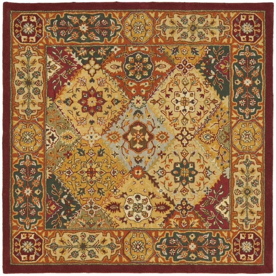 Safavieh Heritage Lavar Multi Square Indoor Handcrafted Oriental Area Rug (Common: 8 x 8; Actual: 8-ft W x 8-ft L)