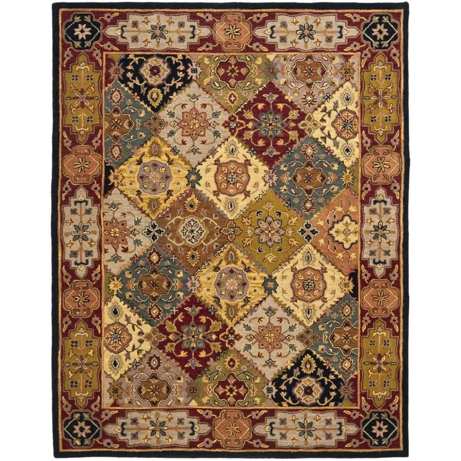 Safavieh Heritage Lavar Multi/Red Rectangular Indoor Handcrafted Oriental Area Rug (Common: 9 x 12; Actual: 9.5-ft W x 13.5-ft L)