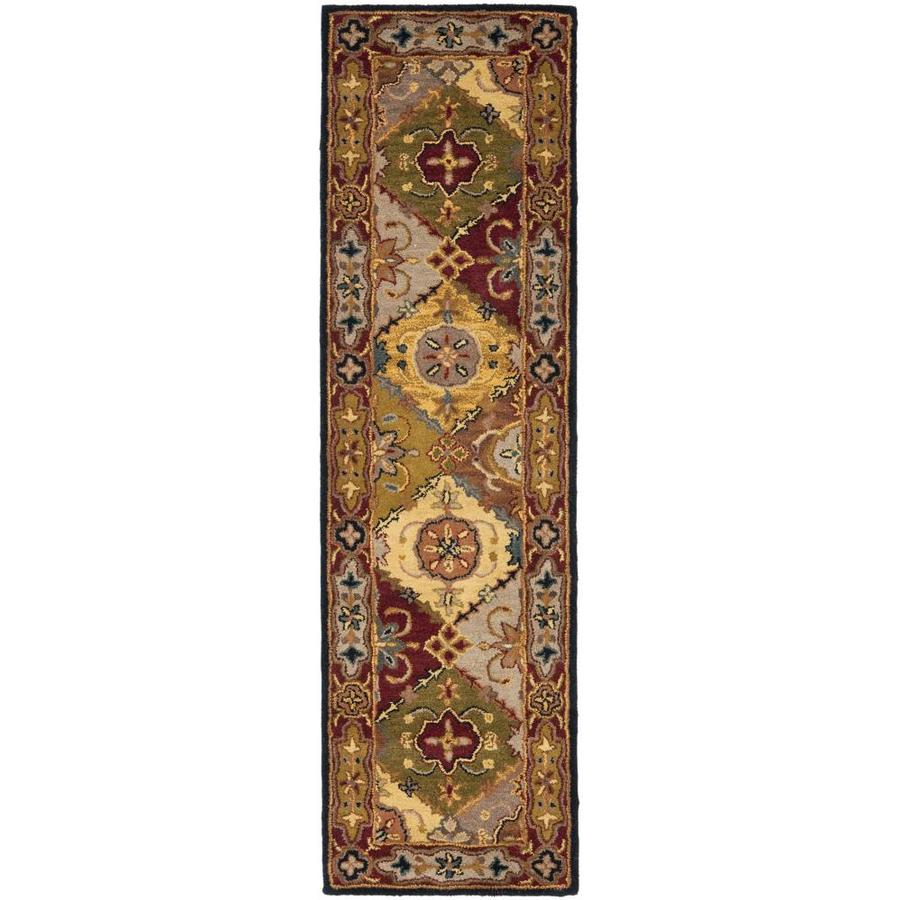 Safavieh Heritage Multi and Red Rectangular Indoor Tufted Runner (Common: 2 x 16; Actual: 2.25-ft W x 16-ft L)