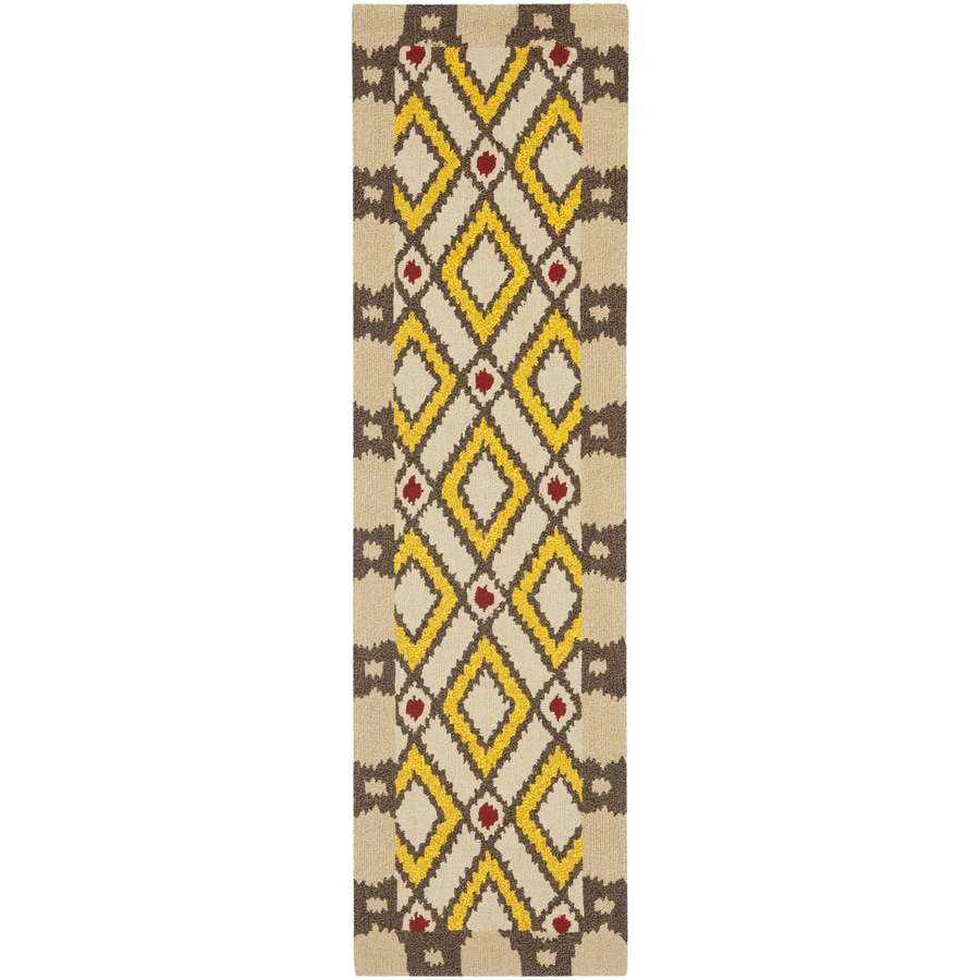 Safavieh Four Seasons Cream Indoor/Outdoor Runner (Common: 2-ft x 6-ft; Actual: 27-in x 72-in)