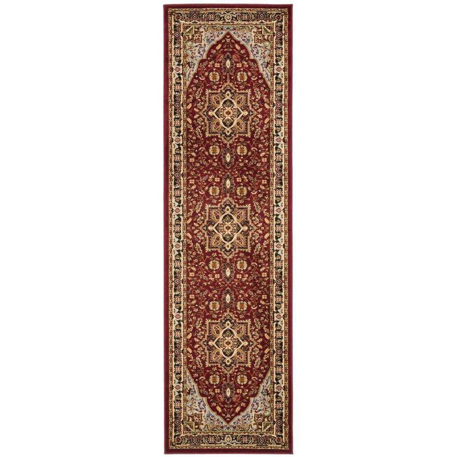 Safavieh Lyndhurst Heriz Red/Black Rectangular Indoor Machine-made Oriental Runner (Common: 2 x 14; Actual: 2.25-ft W x 14-ft L)