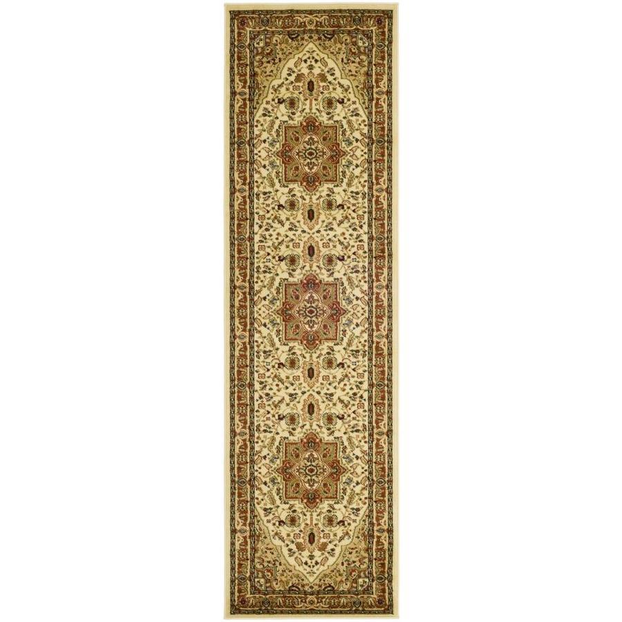 Safavieh Lyndhurst Heriz Ivory/Rust Indoor Oriental Runner (Common: 2 x 8; Actual: 2.25-ft W x 8-ft L)