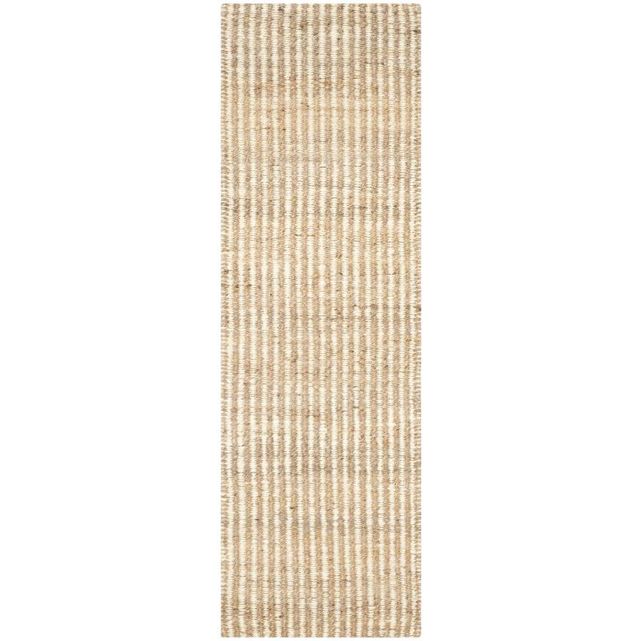 Safavieh Natural Fiber Caicos Natural/Ivory Indoor Handcrafted Coastal Runner (Common: 2 x 11; Actual: 2.25-ft W x 11-ft L)