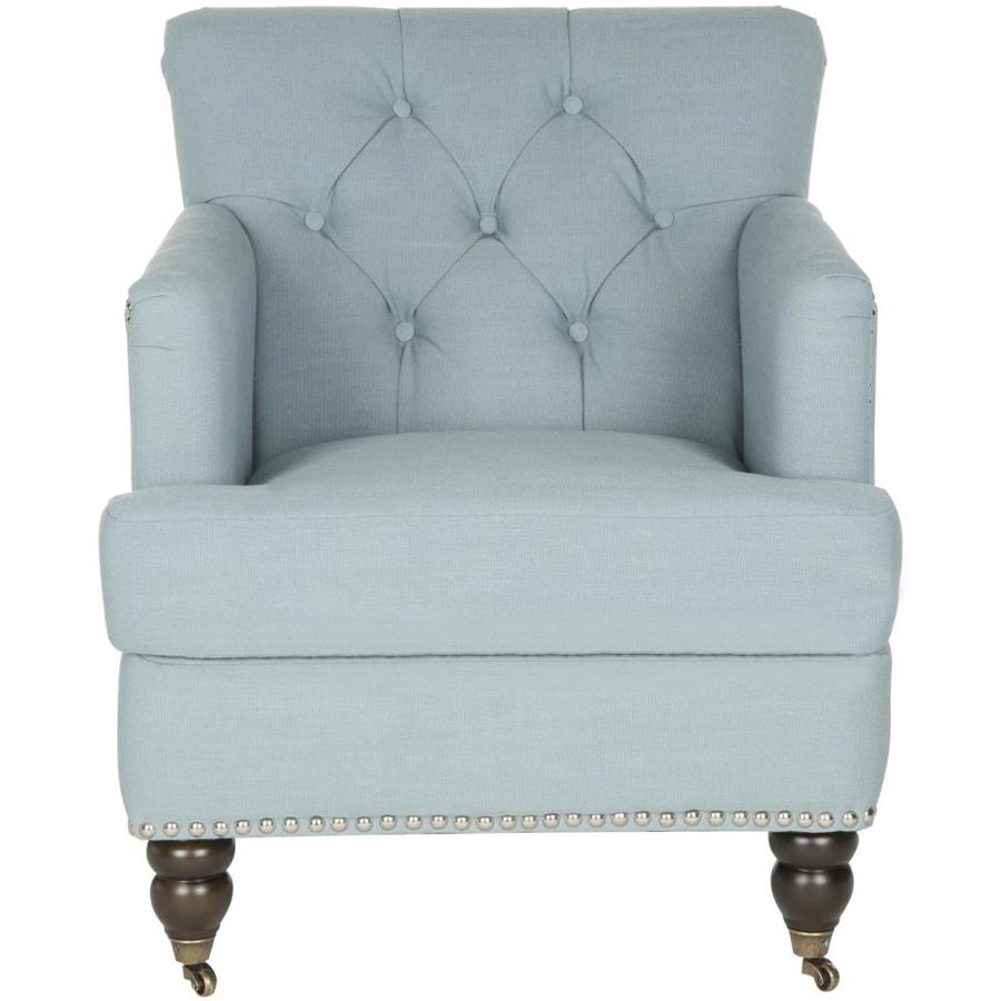 Safavieh Colin Casual Sky Blue Linen Accent Chair