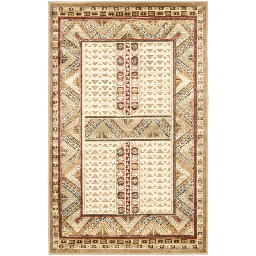 Safavieh Paradise Masul Ivory Rectangular Indoor Machine-made Oriental Area Rug (Common: 4 x 6; Actual: 4-ft W x 5.583-ft L)