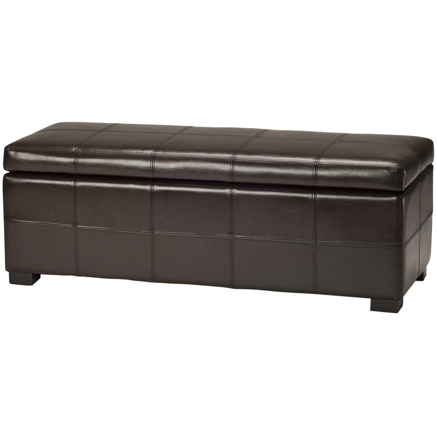 Shop Safavieh Madison Large Transitional Brown Storage Bench At