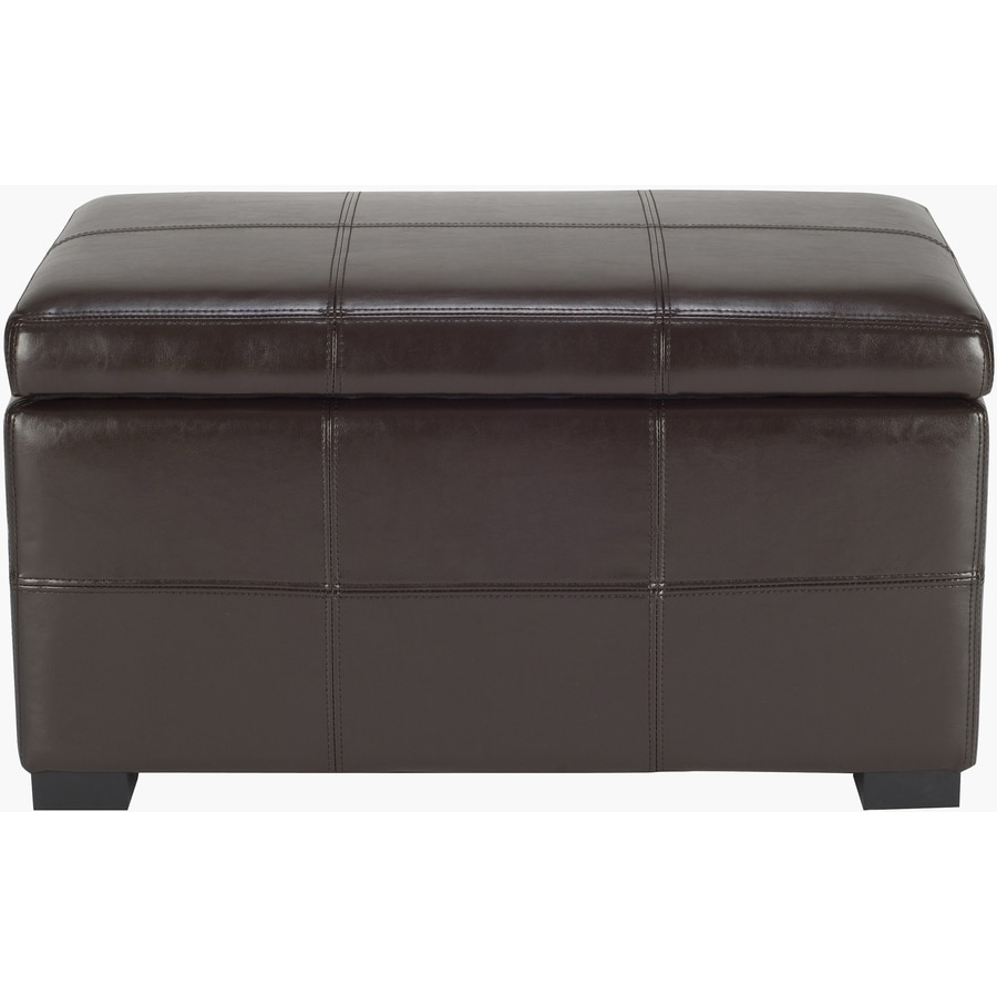 Shop Safavieh Madison Small Transitional Brown Storage Bench At