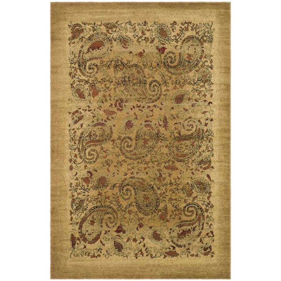 Safavieh Lyndhurst Paisley Life Beige Indoor Area Rug (Common: 5 x 8; Actual: 5.25-ft W x 7.5-ft L)