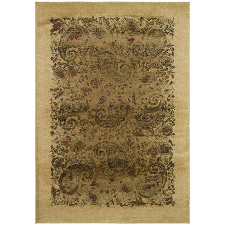 Safavieh Lyndhurst Paisley Life Beige Indoor Area Rug (Common: 6 x 9; Actual: 6-ft W x 9-ft L)