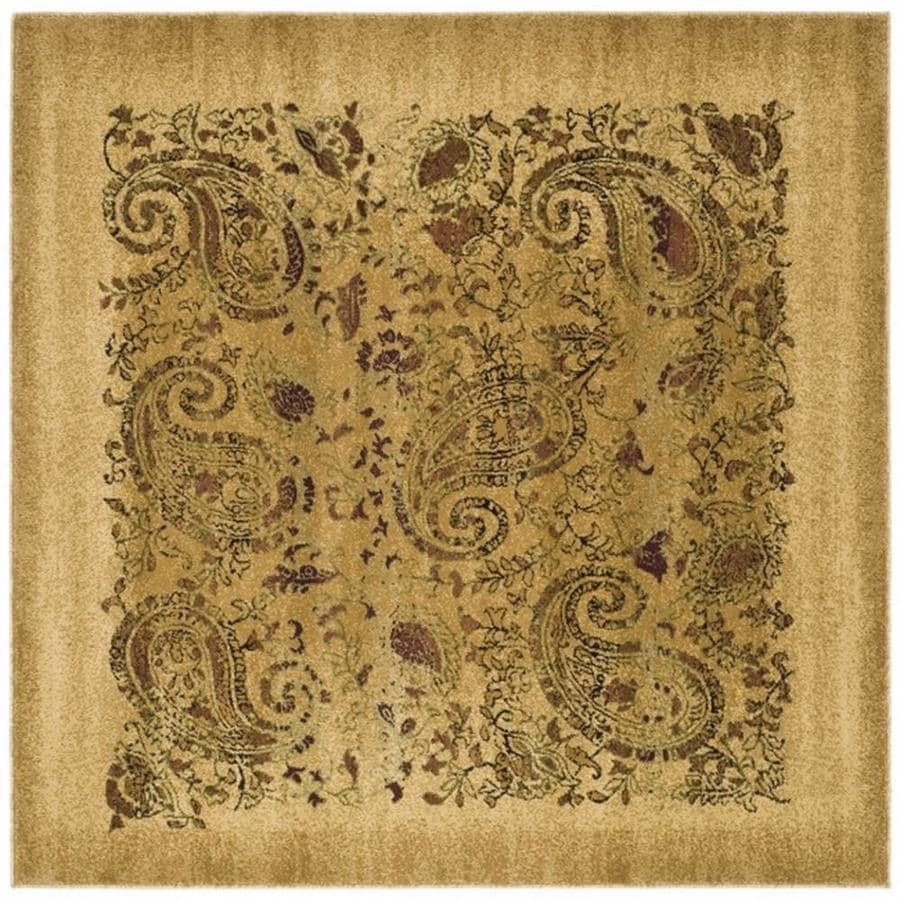 Safavieh Lyndhurst Paisley Life Beige Square Indoor Area Rug (Common: 6 x 6; Actual: 6-ft W x 6-ft L)