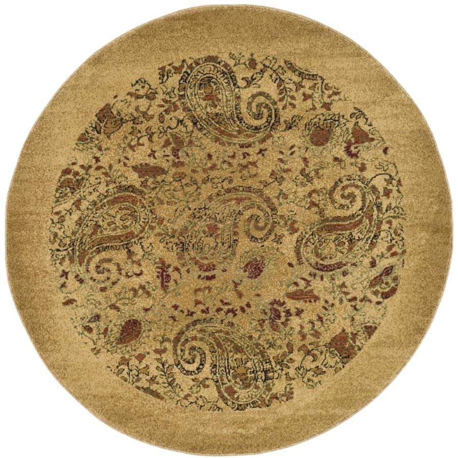 Safavieh Lyndhurst Beige and Multicolor Round Indoor Machine-Made Area Rug (Common: 8 x 8; Actual: 96-in W x 96-in L x 0.5-ft Dia)