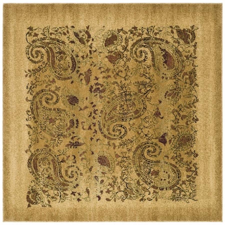 Safavieh Lyndhurst Paisley Life Beige/Multi Square Indoor Machine-made Area Rug (Common: 8 x 8; Actual: 8-ft W x 8-ft L)