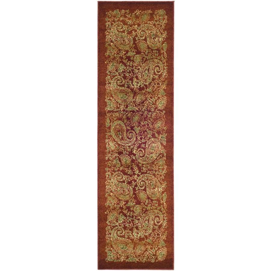 Safavieh Lyndhurst Paisley Life Red/Multi Rectangular Indoor Machine-made Runner (Common: 2 x 12; Actual: 2.25-ft W x 12-ft L)