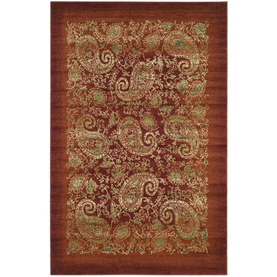 Safavieh Lyndhurst Paisley Life Red Indoor Area Rug (Common: 5 x 8; Actual: 5.25-ft W x 7.5-ft L)