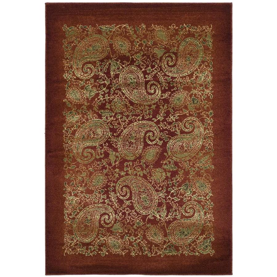 Safavieh Lyndhurst Paisley Life Red/Multi Rectangular Indoor Machine-made Area Rug (Common: 6 x 9; Actual: 6-ft W x 9-ft L)