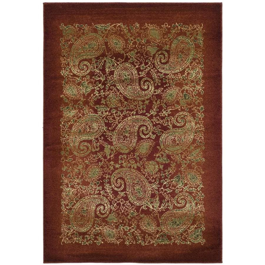 Safavieh Lyndhurst Paisley Life Red/Multi Rectangular Indoor Machine-made Area Rug (Common: 8 x 11; Actual: 8-ft W x 11-ft L)