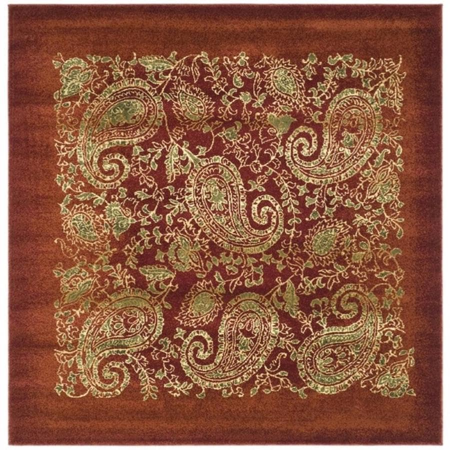 Safavieh Lyndhurst Paisley Life Red Square Indoor Area Rug (Common: 8 x 8; Actual: 8-ft W x 8-ft L)
