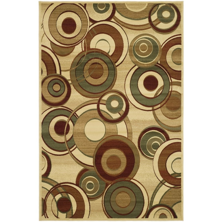 Safavieh Lyndhurst Modern Circles Ivory/Multi Rectangular Indoor Machine-made Area Rug (Common: 6 x 9; Actual: 6-ft W x 9-ft L)