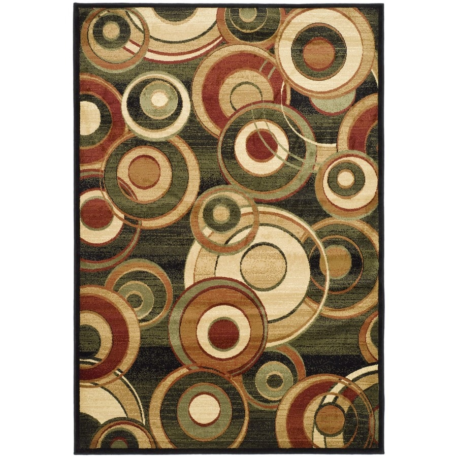Safavieh Lyndhurst Modern Circles Black/Multi Rectangular Indoor Machine-made Area Rug (Common: 6 x 9; Actual: 6-ft W x 9-ft L)