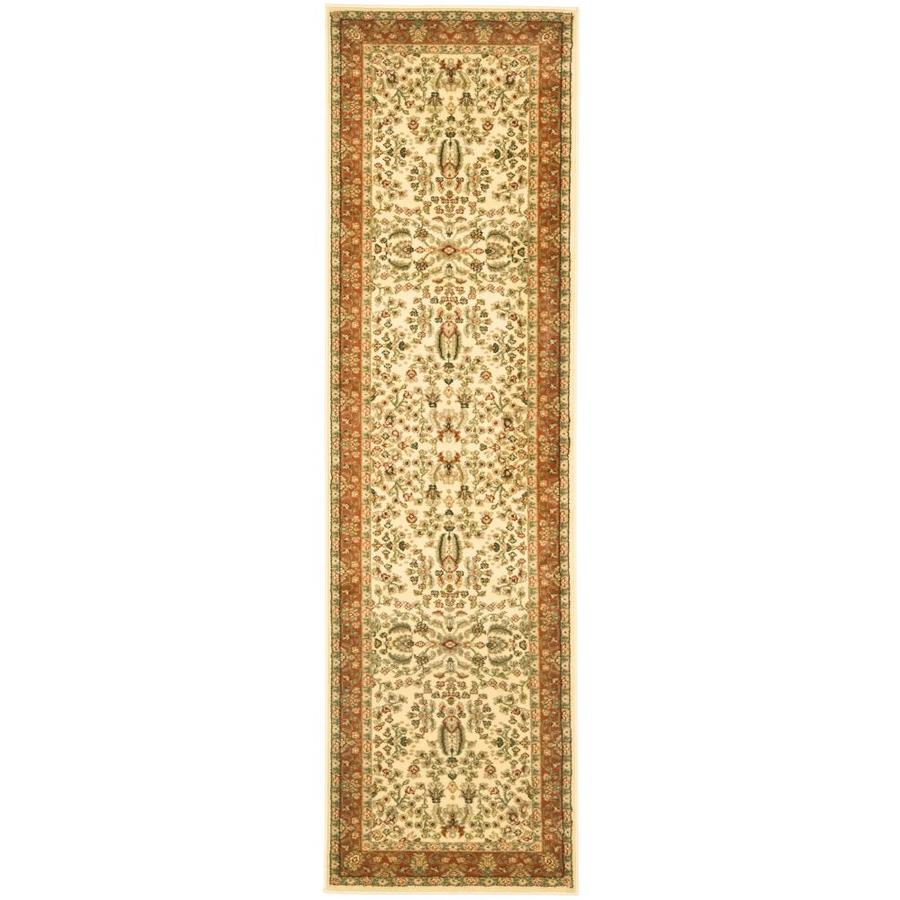 Safavieh Lyndhurst Isphahan Ivory/Rust Indoor Oriental Runner (Common: 2 x 12; Actual: 2.25-ft W x 12-ft L)