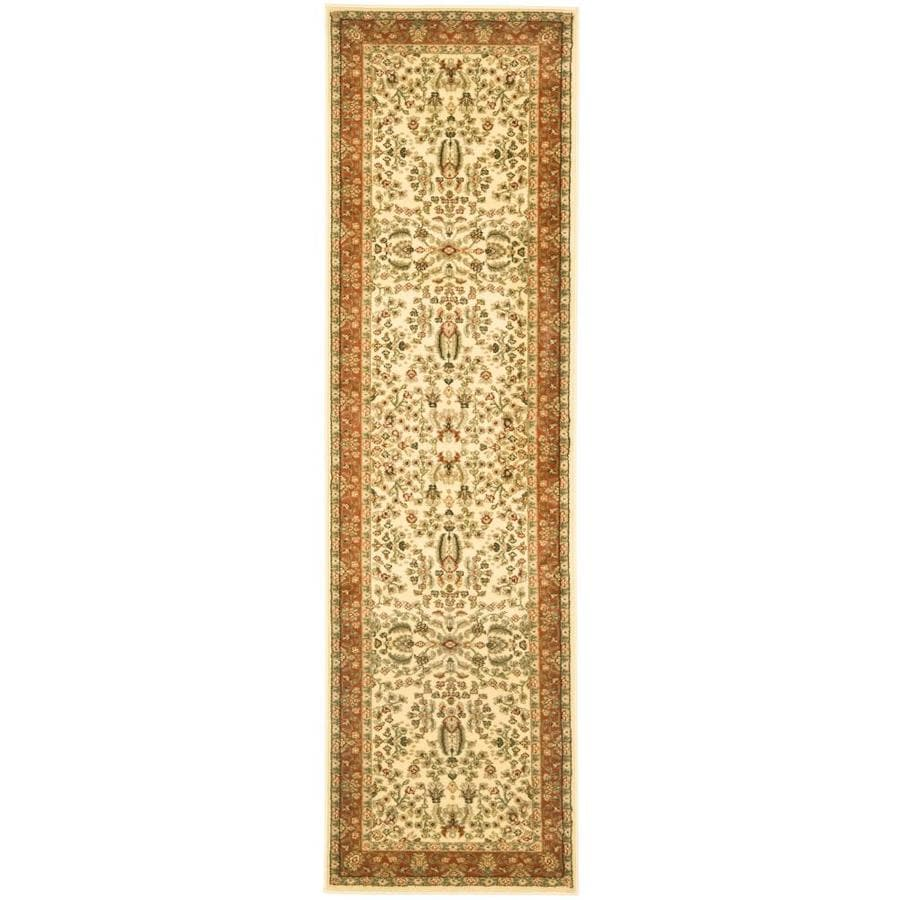 Safavieh Lyndhurst Isphahan Ivory/Rust Indoor Oriental Runner (Common: 2 x 8; Actual: 2.25-ft W x 8-ft L)