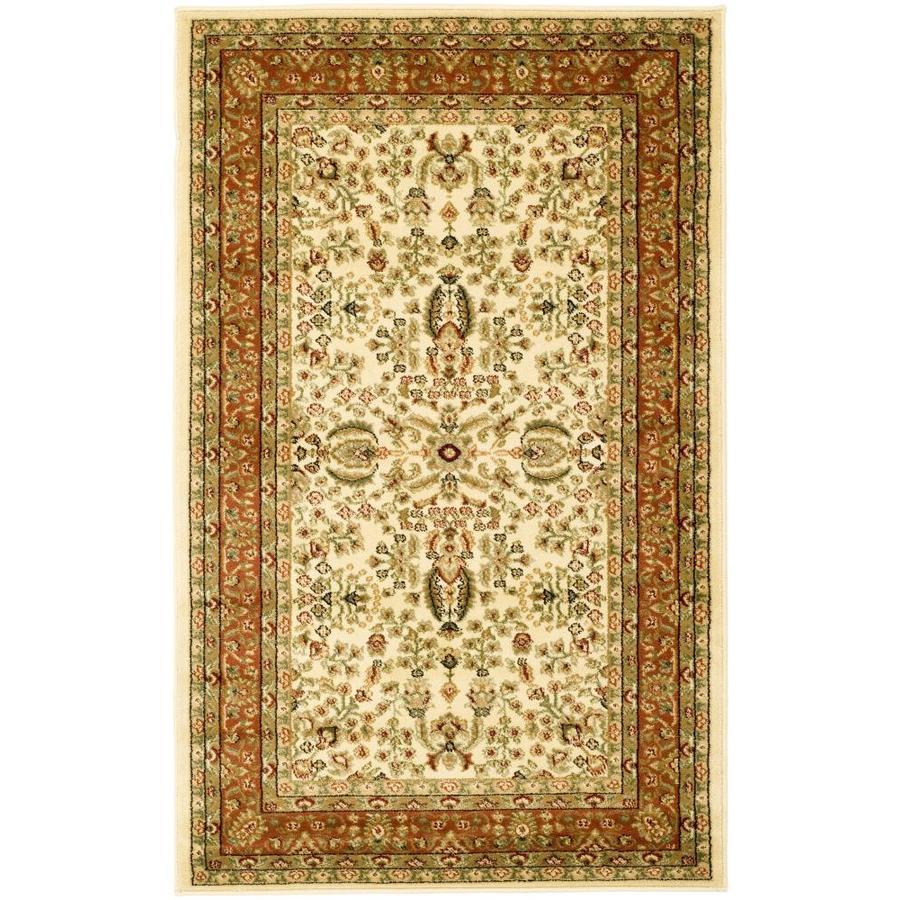 Safavieh Lyndhurst Isphahan Ivory/Rust Indoor Oriental Throw Rug (Common: 3 x 5; Actual: 3.25-ft W x 5.25-ft L)