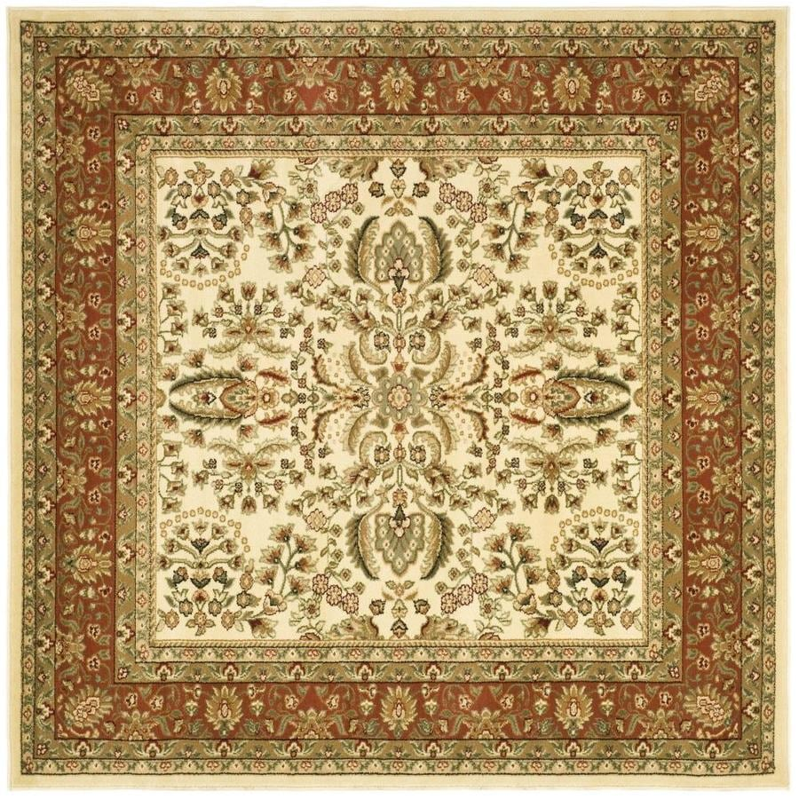 Safavieh Lyndhurst Isphahan Ivory/Rust Square Indoor Oriental Area Rug (Common: 8 x 8; Actual: 8-ft W x 8-ft L)