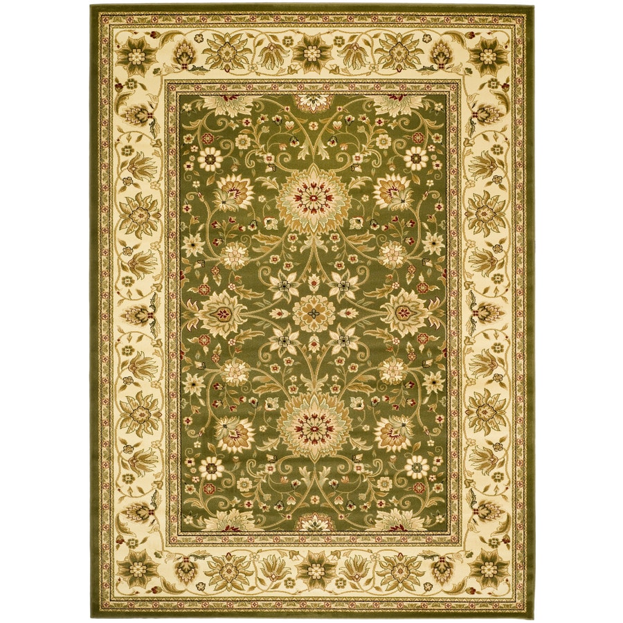 Shop Safavieh Lyndhurst Sage and Ivory Rectangular Indoor Machine ...