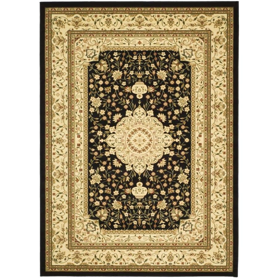 Safavieh Lyndhurst Tabriz Black/Ivory Rectangular Indoor Machine-made Oriental Area Rug (Common: 9 x 12; Actual: 8.917-ft W x 12-ft L)