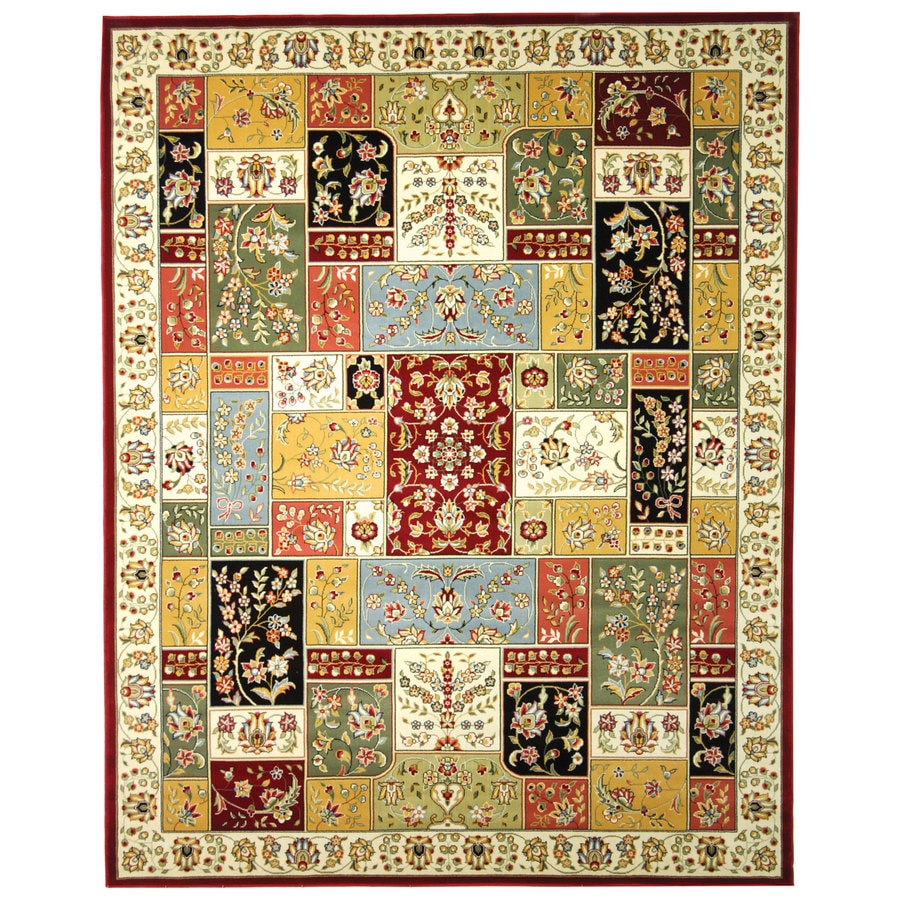 Safavieh Lyndhurst Omni Multi/Ivory Rectangular Indoor Machine-made Oriental Area Rug (Common: 9 x 12; Actual: 8.917-ft W x 12-ft L)