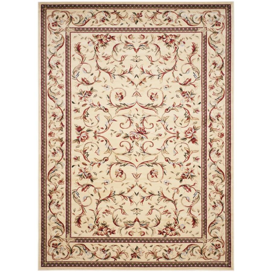 shop safavieh lyndhurst lyon ivory ivory indoor oriental area rug common 9 x 12 actual 9 ft. Black Bedroom Furniture Sets. Home Design Ideas