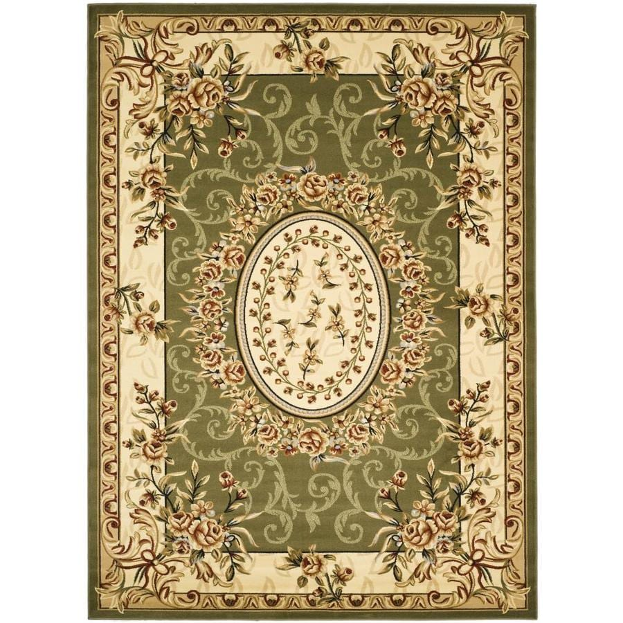 Safavieh Lyndhurst Sage and Ivory Rectangular Indoor Machine-Made Area Rug (Common: 9 x 12; Actual: 107-in W x 144-in L x 0.67-ft Dia)