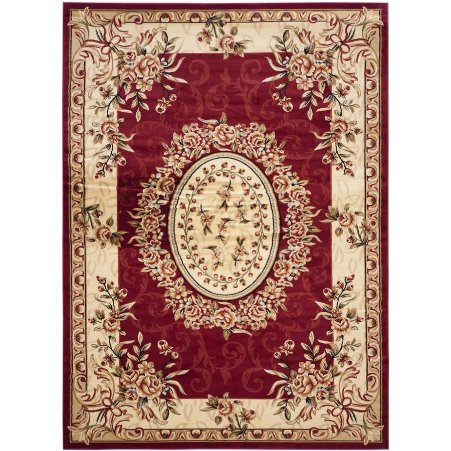 Safavieh Lyndhurst Grandour Red/Ivory Indoor Oriental Area Rug (Common: 9 x 12; Actual: 8.9-ft W x 12-ft L)