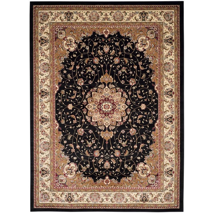 Safavieh Lyndhurst Kerman Black/Ivory Rectangular Indoor Machine-made Oriental Area Rug (Common: 9 x 12; Actual: 8.917-ft W x 12-ft L)